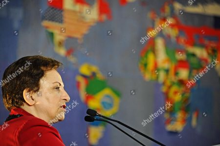 The Nobel Peace Prize Shirin Ebadi Speaks During the International Forum '''unity in Diversity'' at Palazzo Vecchio in Florence Italy 06 November 2015 Italy Florence