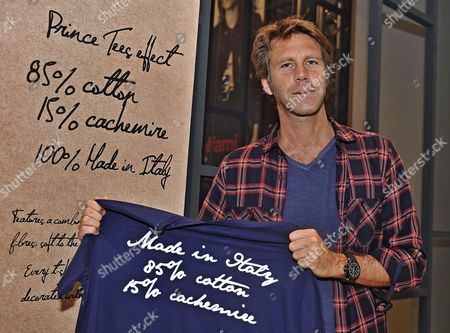 Prince Emanuele Filiberto Di Savoy Poses For Photographs at the Blauer Stand During the 88th Pitti Immagine Uomo Fashion Event in Florence Italy 17 June 2015 the Fashion Exhibition of Men's Clothing Runs From 16 to 19 June Italy Florence