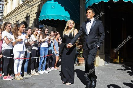 Us Entrepreneur Joe Francis and His Girlfriend Abbey Wilson Walk out of the Hotel For the Wedding of Kim Kardashian and Kanye West in Florence Italy 24 May 2014 the Wedding Party Will Be Hold at Forte Di Belvedere Florence on 24 May Italy Florence