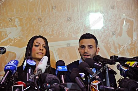 Meredith Kercher's Sister Stephanie Kercher (l) and Brother Lyle Kercher Speak During a Press Conference in Florence Italy 31 January 2014 Us Student Amanda Knox and Her Former Italian Boyfriend Raffaele Sollecito Were Found Guilty of the 2007 Murder of Briton Meredith Kercher an Italian Court Ruled 30 January 2014 Francesco Maresca a Lawyer For the Kercher Family Said Exhausting a New Round of Appeals by Knox and Sollecito Before the Cassation - Presumably the Final Stage in the Legal Saga - Would Take About a Year Italy Florence
