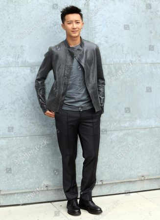 Chinese Singer Han Geng Attends the Presentation of the Spring/summer 2015 Menswear Collection by Italian Label Emporio Armani During the Milan Fashion Week in Milan Italy 23 June 2014 the Milano Moda Uomo Runs From 21 to 24 June Italy Milan