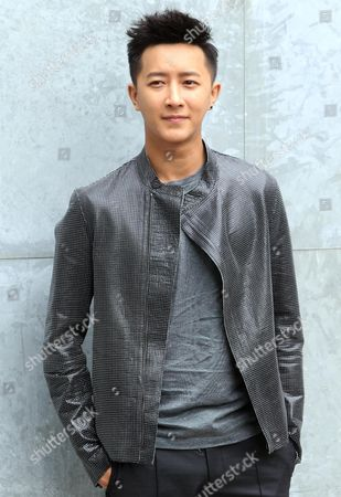 Stock Image of Chinese Singer Han Geng Attends the Presentation of the Spring/summer 2015 Menswear Collection by Italian Label Emporio Armani During the Milan Fashion Week in Milan Italy 23 June 2014 the Milano Moda Uomo Runs From 21 to 24 June Italy Milan