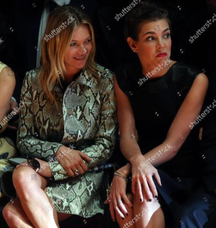 Charlotte Casiraghi Daughter of Princess Caroline of Hanover and British Model Kate Moss (l) Attend the Presentation of the Spring/summer 2015 Collection of Italian Label Gucci by Italian Designer Frida Giannini During the Milan Fashion Week in Milan Italy 17 September 2014 the Milano Moda Donna Runs From 17 to 22 September Italy Milan