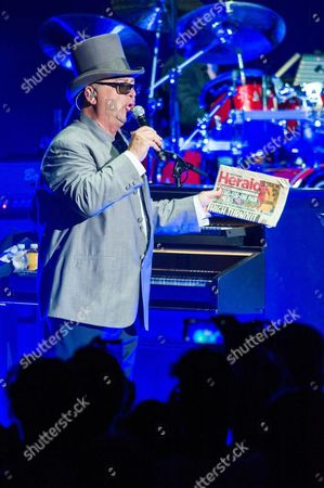 David Paich of Us Band Toto Performs During a Concert As Part of Their European Tour at Auditorium Parco Della Musica Cavea in Rome Italy 05 July 2015 Italy Rome