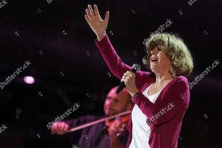 Italian Record Producer and Former Singer and Actress Caterina Caselli Performs During a Concert to Raise Funds For the Emilia Earthquake Victims at the Stadio Dall'ara in Bologna Italy 25 June 2012 Italy Bologna