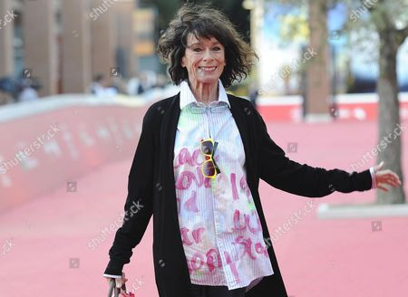 Stock Picture of Us Actress Geraldine Chaplin Arrives on the Red Carpet For the Premiere of the Movie 'Sand Dollars' Directed by Laura Amelia Guzman and Israel Cardenas at the 9th Annual Rome Film Festival in Rome Italy 22 October 2014 the Festival Runs From 16 to 25 October Italy Rome