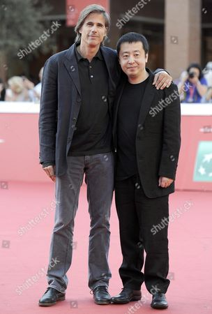 Stock Picture of Brazilian Director Walter Salles (l) and Chinese Director Jia Zhangke (r) Arrive For the Premiere of 'A Guy From Fenyang' at the 9th Annual Rome Film Festival in Rome Italy 20 October 2014 the Festival Runs From 16 to 25 October Italy Rome