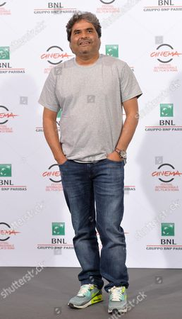 Indian Director Vishal Bhardwaj Poses During the Photocall For the Movie 'Haider' at the 9th Annual Rome Film Festival in Rome Italy 24 October 2014 the Festival Runs From 16 to 25 October Italy Rome