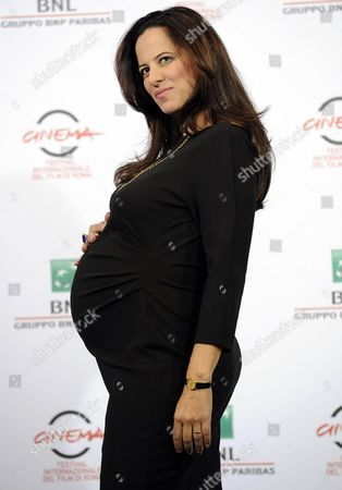 Stock Photo of Italian Actress Tiziana Lodato Poses During the Photocall For the Movie 'Andiamo a Quel Paese' at the 9th Annual Rome Film Festival in Rome Italy 25 October 2014 the Festival Runs From 16 to 25 October Italy Rome