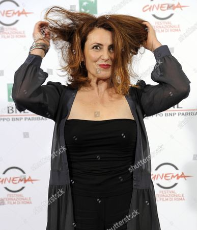 Stock Picture of Italian Actress Daniela Giordano Poses During the Photocall For the Movie 'Buoni a Nulla' at the 9th Annual Rome Film Festival in Rome Italy 18 October 2014 the Festival Runs From 16 to 25 October Italy Rome