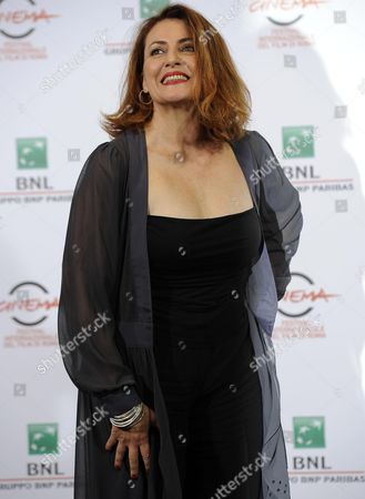 Stock Image of Italian Actress Daniela Giordano Poses During the Photocall For the Movie 'Buoni a Nulla' at the 9th Annual Rome Film Festival in Rome Italy 18 October 2014 the Festival Runs From 16 to 25 October Italy Rome