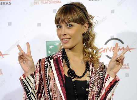Italian Actress Fatima Trotta Poses During the Photocall For the Movie 'Andiamo a Quel Paese' at the 9th Annual Rome Film Festival in Rome Italy 25 October 2014 the Festival Runs From 16 to 25 October Italy Rome