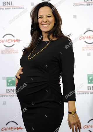 Italian Actress Tiziana Lodato Poses During the Photocall For the Movie 'Andiamo a Quel Paese' at the 9th Annual Rome Film Festival in Rome Italy 25 October 2014 the Festival Runs From 16 to 25 October Italy Rome