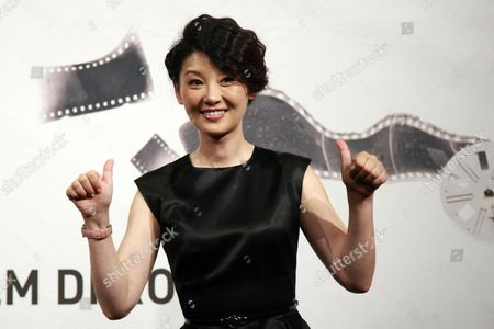 Chinese Actress Xu Fan Poses During a Photocall For the Movie '1942' (back to 1942) at the 7th Annual Rome Film Festival in Rome Italy 11 November 2012 the Movie is Presented in the Official Competition of the Festival That Runs From 09 to 17 November Italy Rome