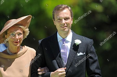 Albert Brenninkmeijer (r) Arrives with an Unidentified Woman at San Miniato's Church For His Wedding Ceremony with Dutch Princess Carolina in Florence Italy 16 June 2012 Italy Florence