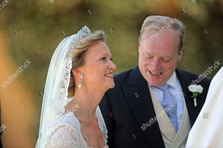 Dutch Princess Carolina (l) Arrives with Her Father Albert Brenninkmeijer (r) at San Miniato's Church For Her Wedding Ceremony in Florence Italy 16 June 2012 Dutch Princess Carolina is to Marry Albert Brenninkmeijer Italy Florence
