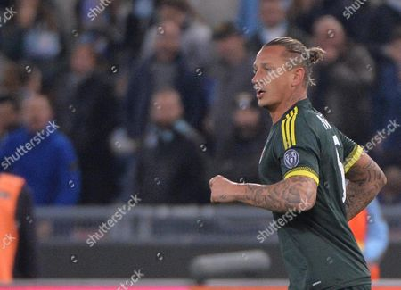 Ac Milan's Philippe Mexes Celebrates After Scoring the 0-2 Gol During Italian Serie a Soccer Match Ss Lazio Vs Ac Milan at the Olimpico Stadium in Rome Italy 01 November 2015 Italy Rome