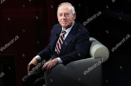 Italian Pianist and Conductor Maurizio Pollini Appears As a Guest of the Italian Television Cahnnel Rai3 Talk Show 'Che Tempo Che Fa' (lit : what Time Ago) in Milan Italy 21 December 2014 Italy Milan