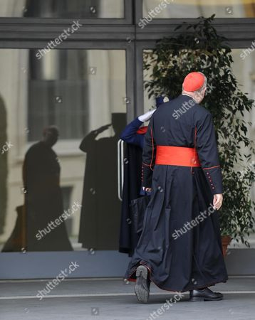 Us Cardinal Timothy Michael Dolan As He Arrives For the Congregation at Paolo Vi Hall in the Vatican City the Vatican 05 March 2013 Roman Catholic Cardinals From Around the World Have Gathered in the Vatican to Start Proceeding in the Election of the New Pope Vatican City State (holy See) Vatican City