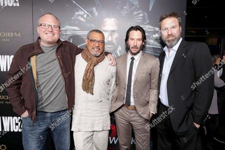Derek Kolstad, Laurence Fishburne, Keanu Reeves, Basil Iwanyk
