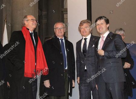 Claudio Ranieri, Giancarlo Antognoni and Dario Nardella