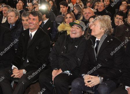 Paolo Maldini, Diego Maradona and Giancarlo Antognoni