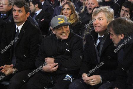 Paolo Maldini, Diego Maradona, Giancarlo Antognoni and Marco Tardelli
