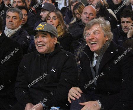 Diego Maradona and Giancarlo Antognoni