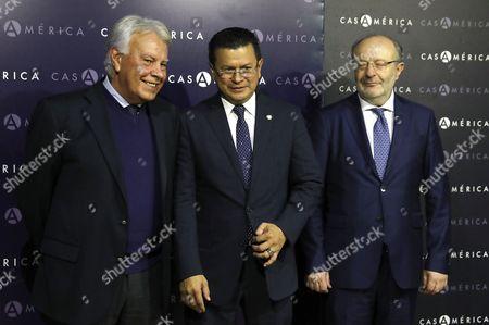Stock Image of Hugo Martinez Bonilla, Felipe Gonzalez and Fernando Garcia Casas