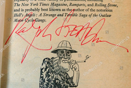 Signed copy of Fear and Loathing in Las Vegas illustrated by Ralph Steadman, London