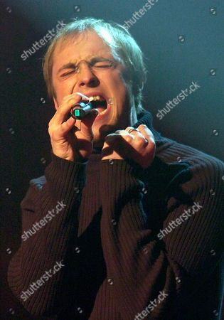 German Singer Maximilian Mutzke Alias Max Performs on Stage During the General Rehearsal For the German Preliminary Round of the Eurovisions Song Contest in Berlin Friday 19 March 2004 Television Viewers Have Decided Max Will Represent Germany at the Eurovision Song Contest in Istanbul on 15 May 2004 with His Song 'Can't Wait Until Tonight' Epa Photo/dpa/andreas Altwein Germany Berlin