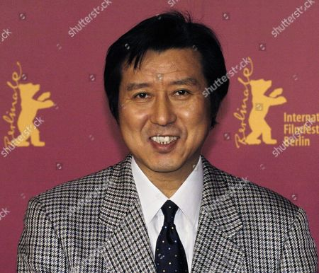 Japanese Producer Takeo Hisamatsu Poses For the Photographers As He Arrives at the Press Conference For His Film 'The Hidden Blade ' at the Berlinale Film Festival in Berlin Germany Tuesday 15 February 2005 the Drama Centres Around Love and Sword Fighting in Ancient Japan Germany Berlin
