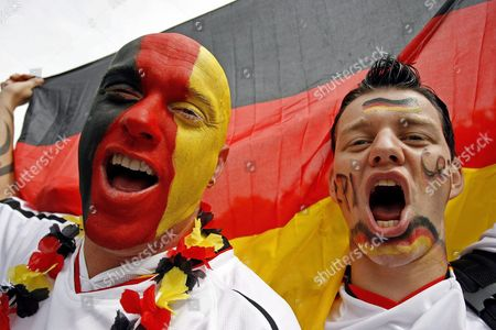 Supporters of the German National Soccer Cheer at the Pubic Viewing Area 'Fan Fest' in Berlin Germany Friday 30 June 2006 Soccer Enthusiasts Across Germany Are Gathering at the Public Viewing Points to Watch the Quarter Final Match Between Germany and Argentina That is Taking Place in Berlin Epa/marcel Mettelsiefen Germany Berlin