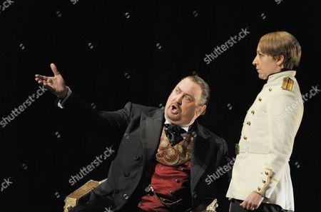 'Boris Godunov'  - Peter Rose (Boris Godunov) and  Anna Grevelius (Fyodor)