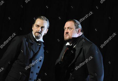 'Boris Godunov'  - John Graham-Hall (Prince Shuisky) and Peter Rose (Boris Godunov)