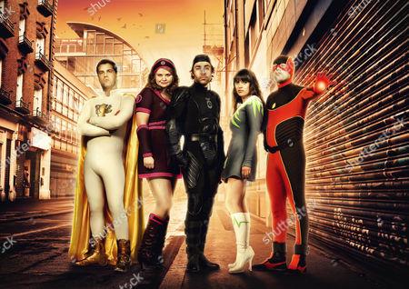 'No Heroics'  TV - 2008 -  Devlin [Patrick Baladi], Jenny [Rebekah Staton], Don [James Lance], Sarah [Claire Keelan] and Alex [Nicholas Burns]
