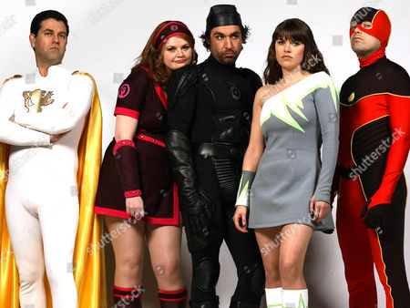 'No Heroics'  TV - 2008 - Excelsior [Patrick Baladi], She Force [Rebekah Staton], Timebomb [James Lance], Electro Clash [Claire Keelan] and The Hotness [Nicholas Burns]