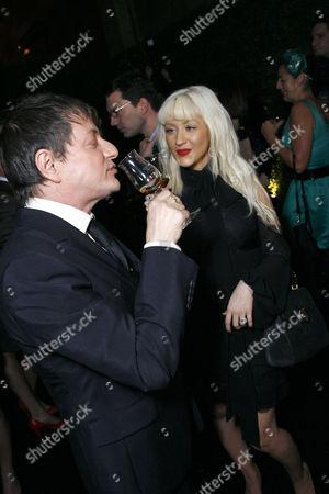 Photographer Matthew Rolston and Christina Aguilera