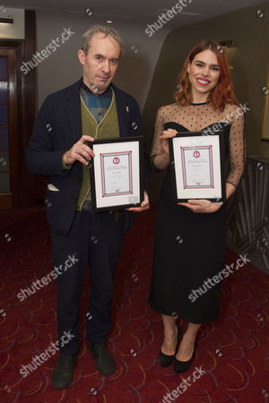 Stephen Dillane accepts the award for Best Actor and Billie Piper accepts the award for Best Actress