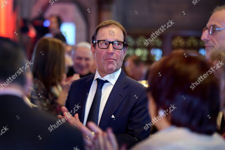 Richard Desmond attends a reception and dinner for the World Jewish Relief charity at the Guildhall, Gresham St, London, UK. 30/01/2017.