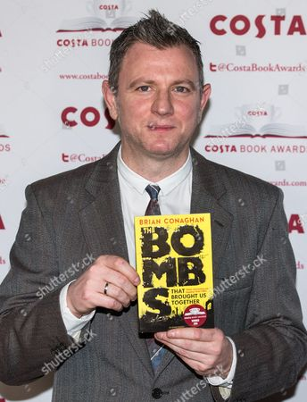 Stock Image of Brian Conaghan, Winner of the Costa Children's Book Award for 'The Bombs That Brought Us Together'