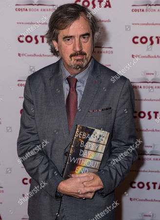 Sebastian Barry, Winner of the Costa First Novel Award for 'Days Without End'