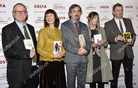 Stock Photo of Francis Spufford, Keggie Carew, Sebastian Barry, Alice Oswald and Brian Conaghan