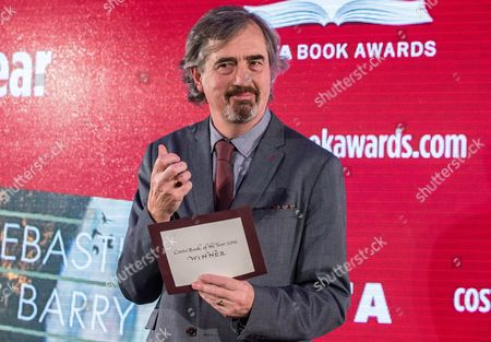 Stock Picture of Sebastian Barry, winner of the Costa Book of the Year Award