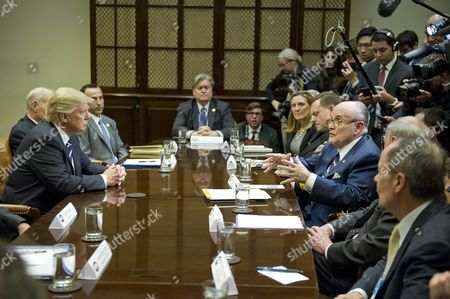 President Donald Trump, Reed Cordish, Steve Bannon, Rudy Giuliani