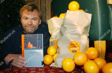 Norwegian Writer Jostein Gaarder Presents His New Book 'The Oranges Girl' at a Press Conference During the Frankfurt Book Fair Friday 10 October 2003 Some 270 000 Visitors Are Expected at the World's Largest Literature Fair in Frankfurt/main That Runs Until 13 October Germany Frankfurt Am Main