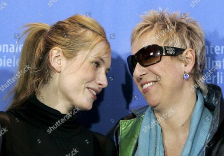 German Actress Nadja Uhl (l) and Director Doris Doerrie During a Photo Call For the Film 'Kirschblueten - Hanami' by German Director Doris Dorrie at the 58th Berlin International Film Festival in Berlin 11 February 2008 the Film Runs in the Regular Competition For the 'Golden Bear' and 'Silver Bear' Awards at the 58th Berlin Film Festival Germany Berlin