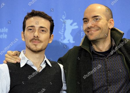 Spanish Actor Victor Clavijo (l) and Director F Javier Gutierrez Pose During a Photo Call For Their Film 'Before the Fall' at the 58th Berlin International Film Festival in Berlin Germany 14 February 2008 the Film Runs in in the Panorama Special Section at the 58th Berlinale Germany Berlin