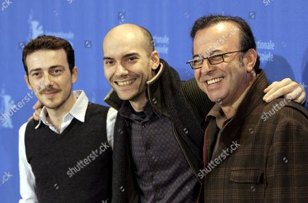 Spanish Actor Victor Clavijo (l-r) Director F Javier Gutierrez and Producer Antonio Perez Pose During a Photo Call For Their Film 'Before the Fall' at the 58th Berlin International Film Festival in Berlin Germany 14 February 2008 the Film Runs in in the Panorama Special Section at the 58th Berlinale Germany Berlin