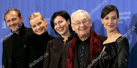 (l-r) Polish Actors Andrzej Chyra Magdalena Cielecka Danuta Stenka Director Andrzej Wajda and Actress Maja Ostaszewska Pose During a Photo Call on Their Film 'Katyn' at the Berlin International Film Festival in Berlin Germany 15 February 2008 the Film Runs out of Competition at the 58th Berlinale Germany Berlin